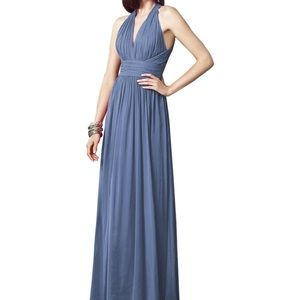 Larkspur color bridesmaid dress